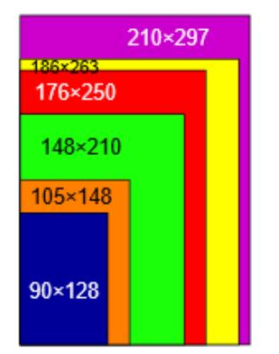 ソフトカバーの縦長対応のサイズ比較