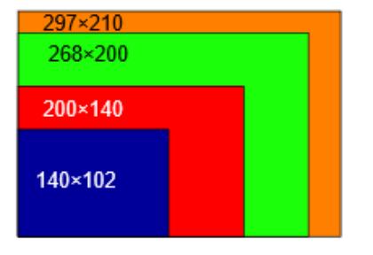 ソフトカバーのスクエアソフトカバーの横長対応サイズ比較